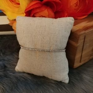 Simple dainty crystal wrap bracelet